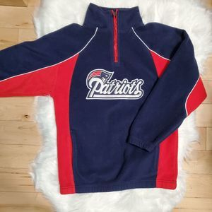 Youth New England Pats Pullover Fleece